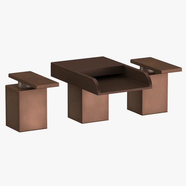 3D modern bathroom sink fixture