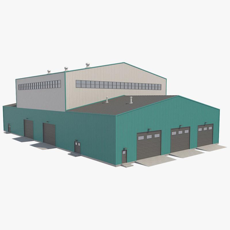 building industrial 3D model