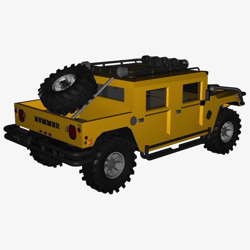 vehicles hummer h1 open 3D model