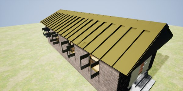3D military barrack