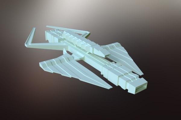sci-fi spacecraft spaceship model