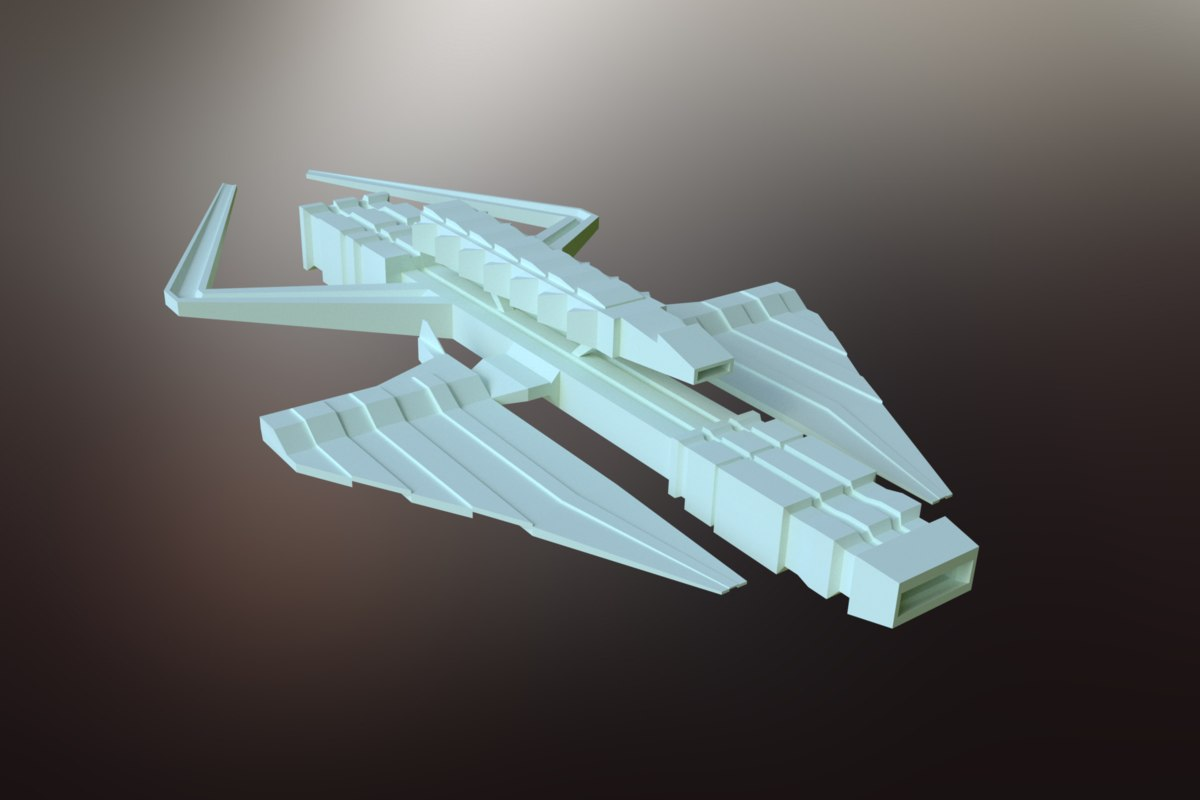 sci-fi spacecraft spaceship model