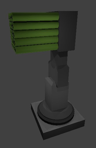ground missile launcher 3D model