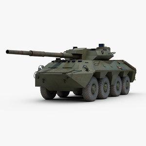 soviet 2s14 zhalo tank destroyer 3D model