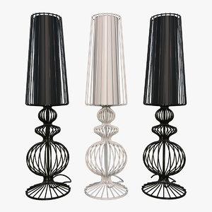 aveiro black white lamps 3D model