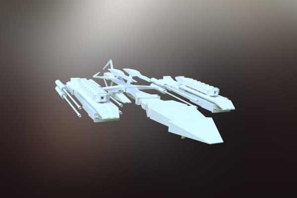 sci-fi spacecraft spaceship 3D model