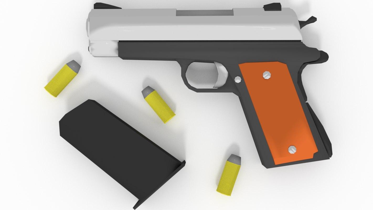 pistol cartoon 3D
