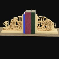 3D bookend book model