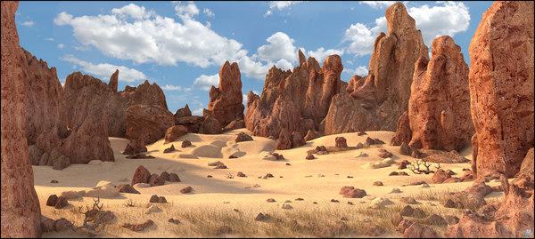 rock desert landscape 3D model
