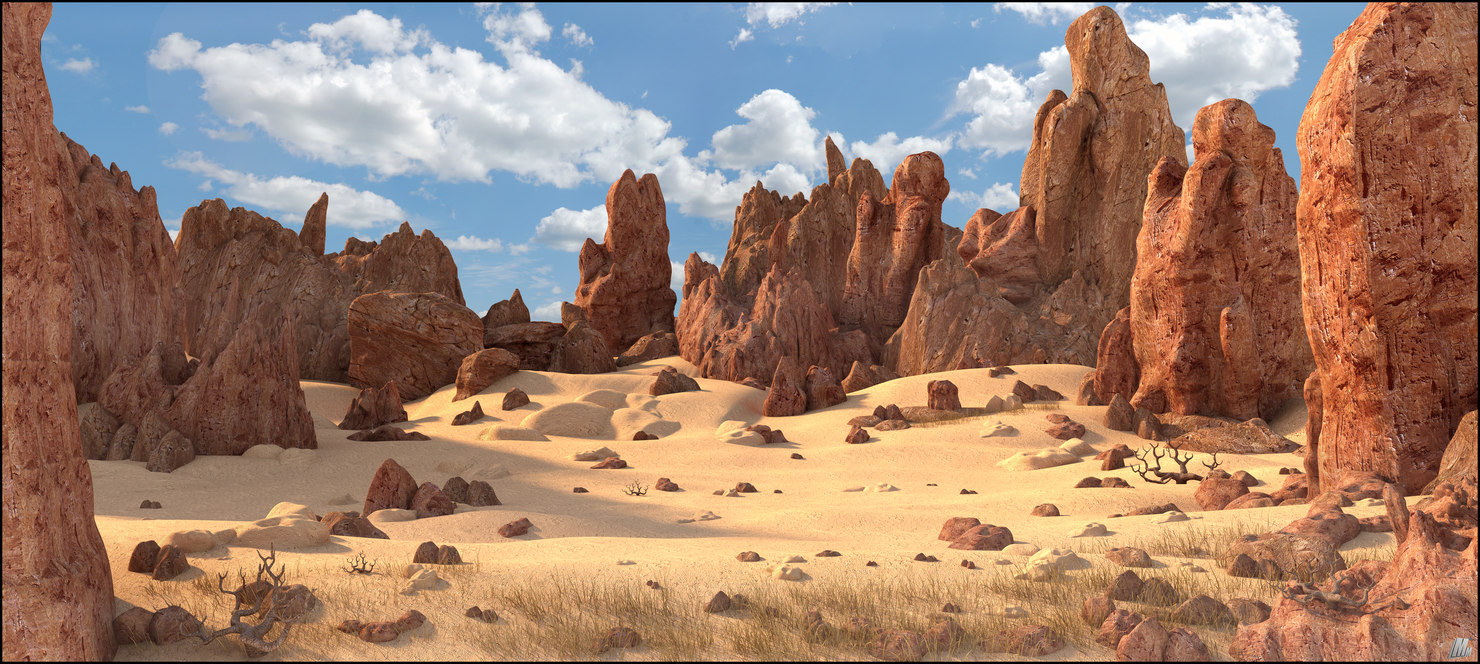 rock desert landscape 3D model