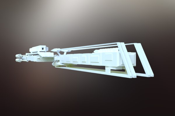 3D model sci-fi spacecraft spaceship