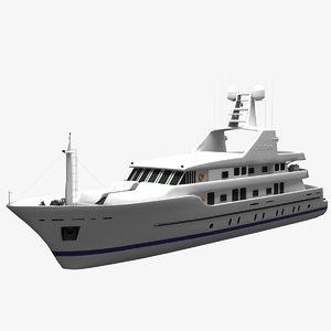 orleans yacht medium 3D model