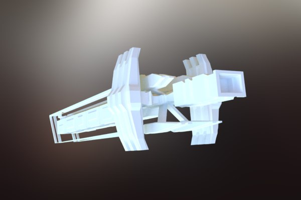 3D sci-fi spacecraft spaceship model