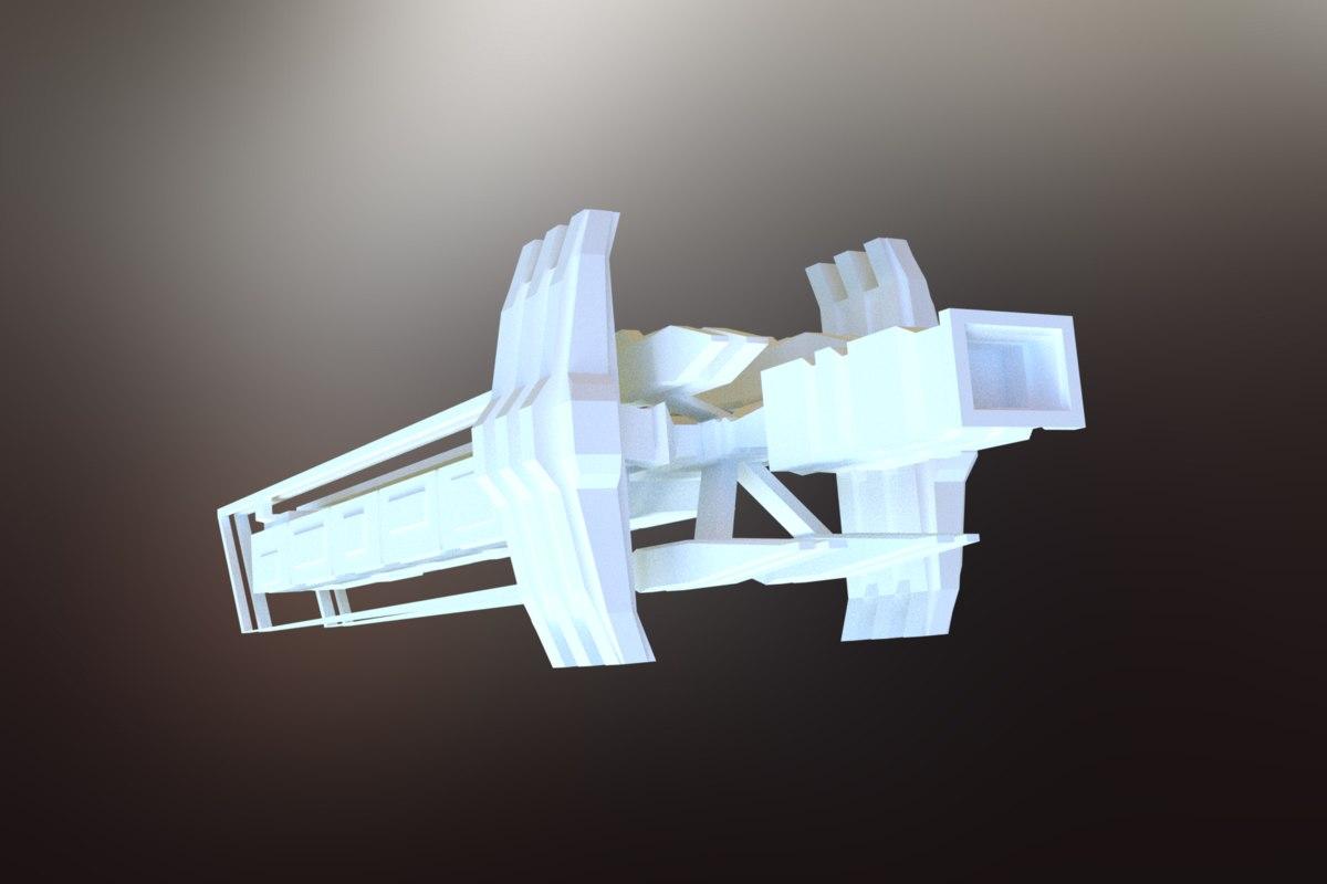 3D sci-fi spacecraft spaceship model