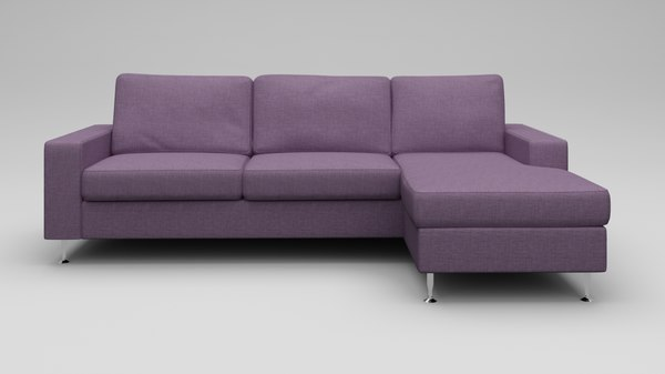 hi modern european sofa 3D