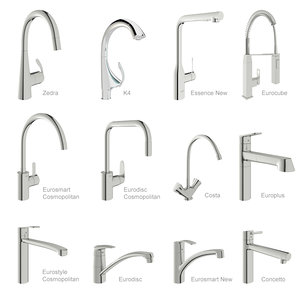 3D model grohe mixers
