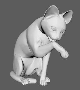 cat animal 3D model