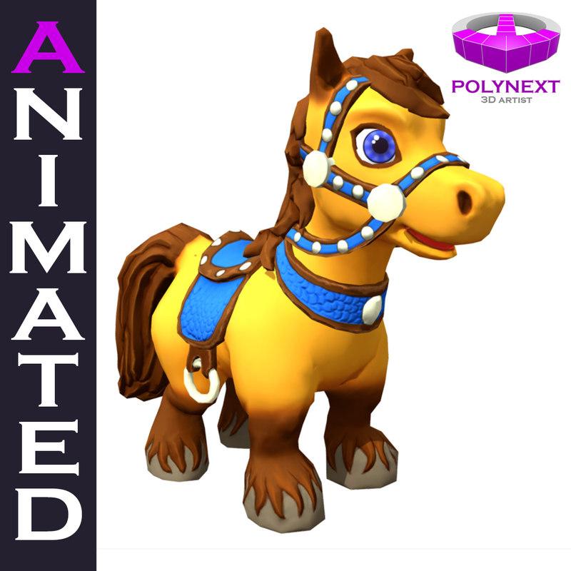 cartoon talking horse games 3D