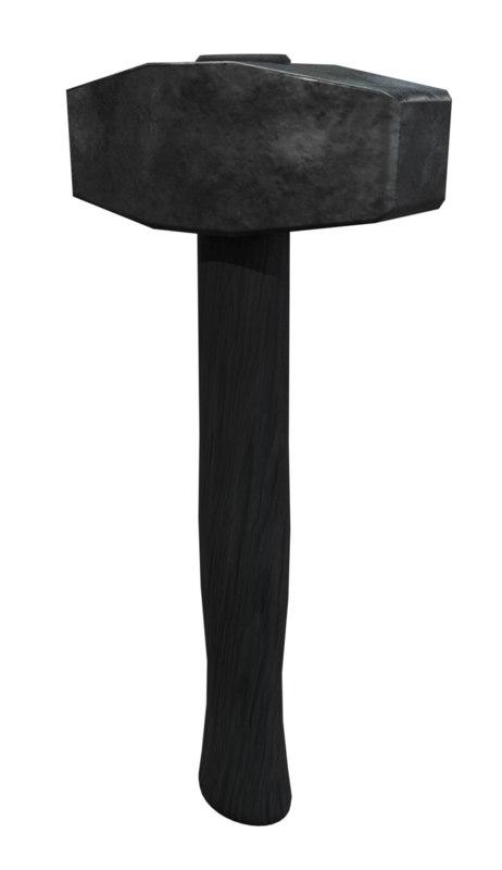 blacksmith hammer 3D model