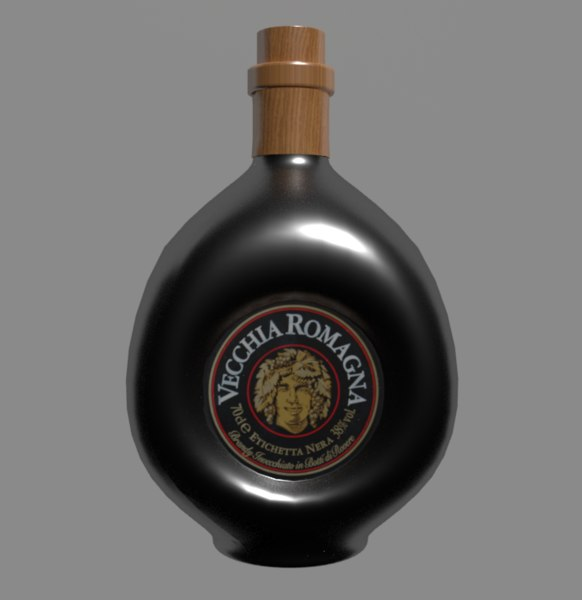 3D model brandy bottle