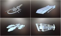 3D sci-fi spaceships