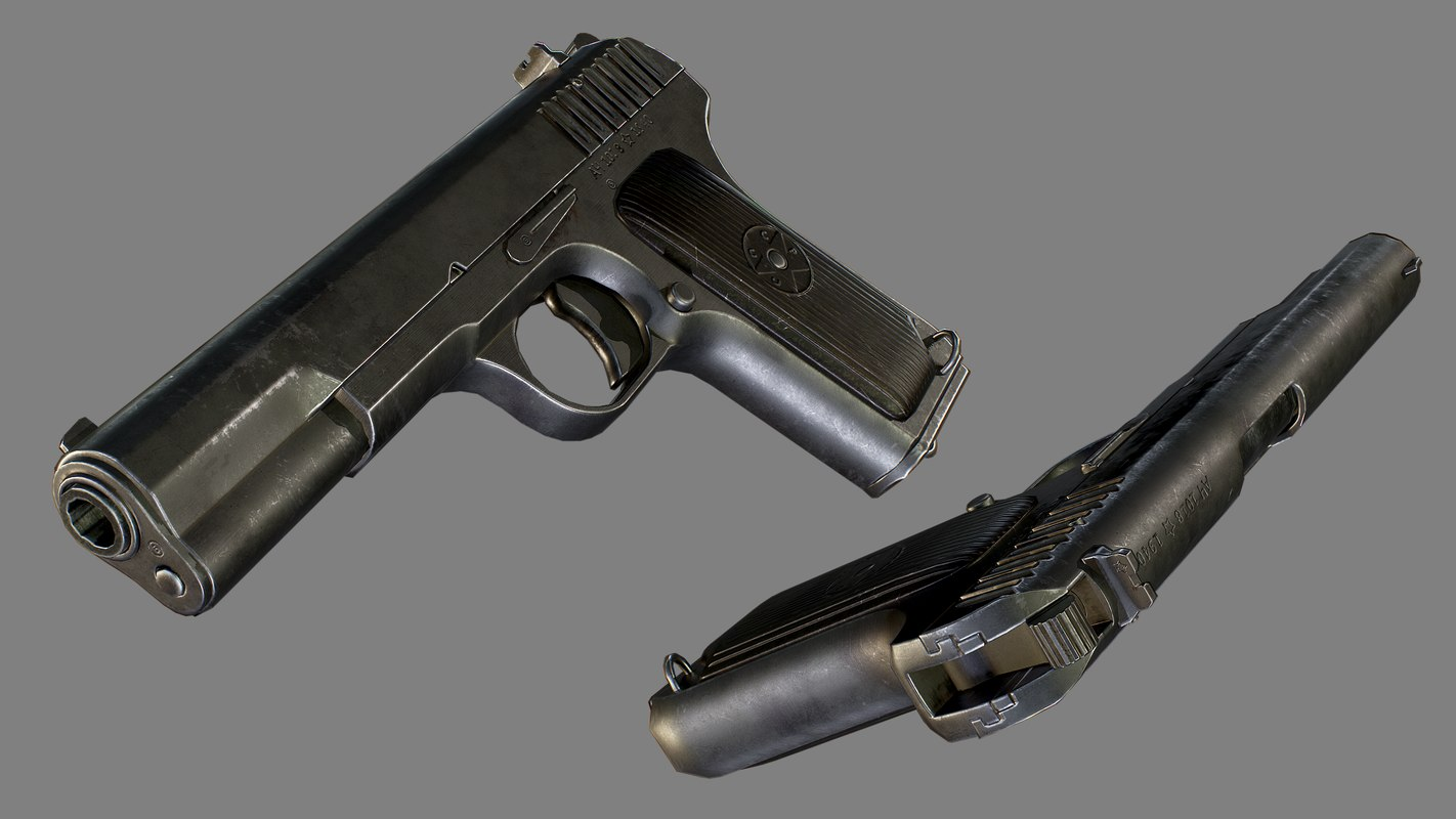 semi-automatic pistol 3D model