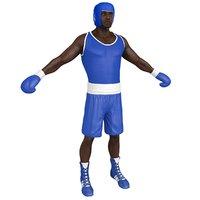 3D model boxer man