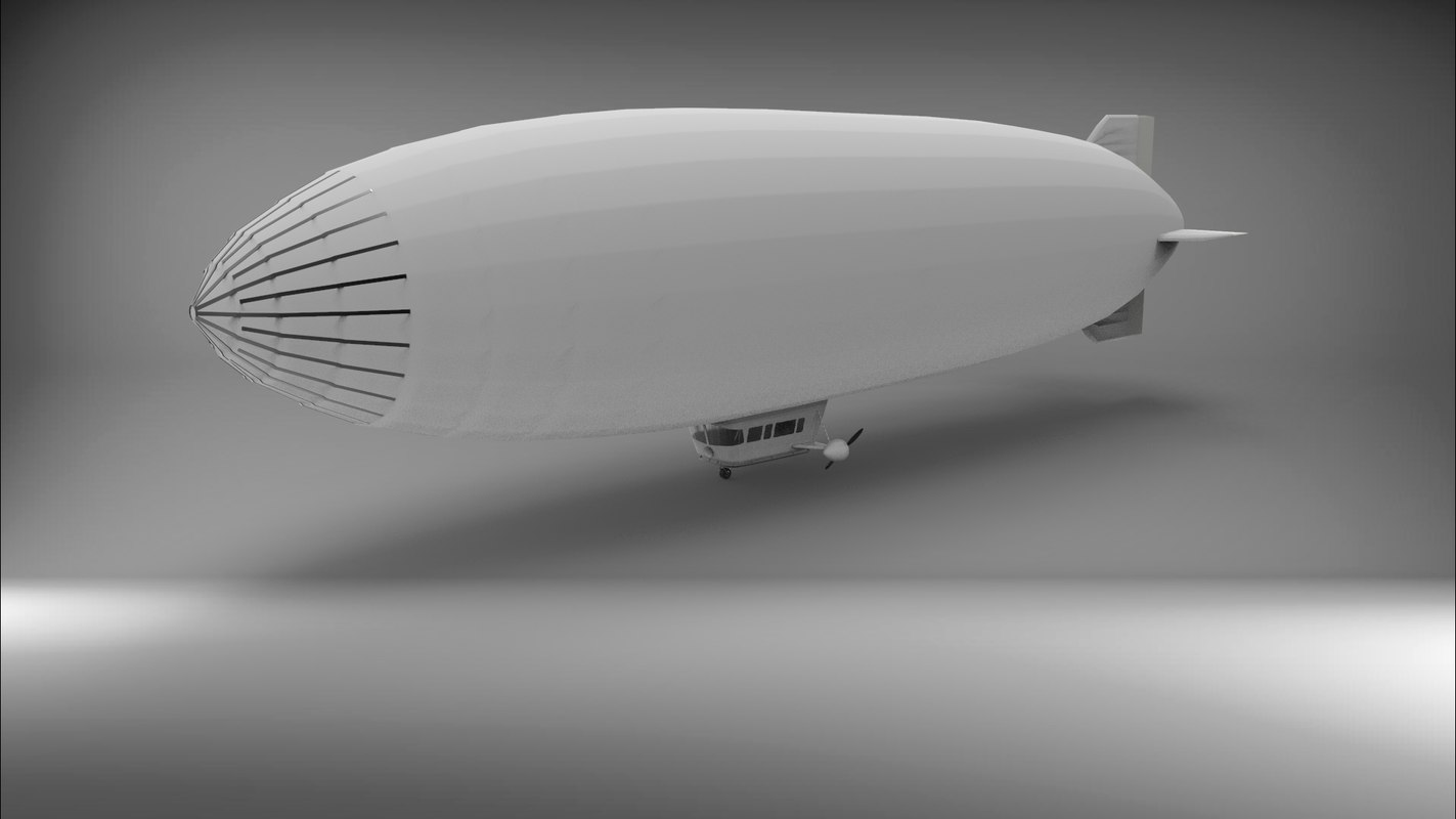 3D model blimp airship