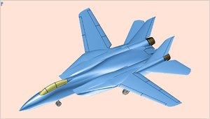 3D grumman f-14 fighter aircraft