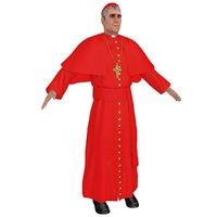 cardinal priest 3D