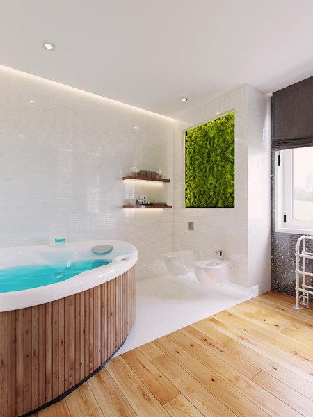 bathroom scene interior furniture 3D model