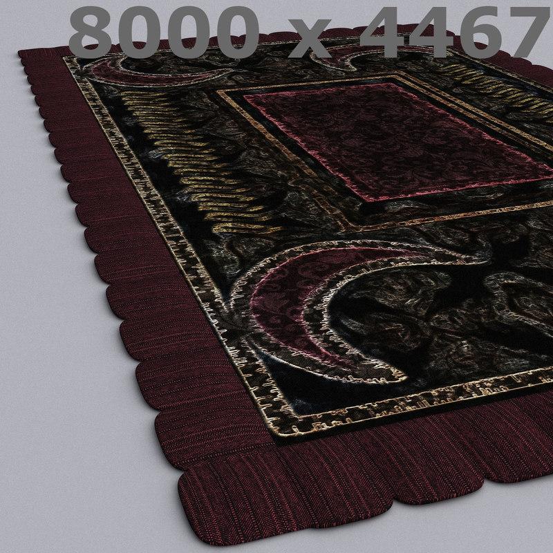 3D model rug 4