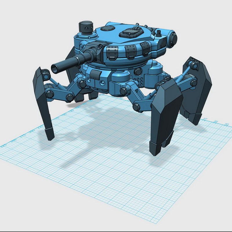 spider tank model