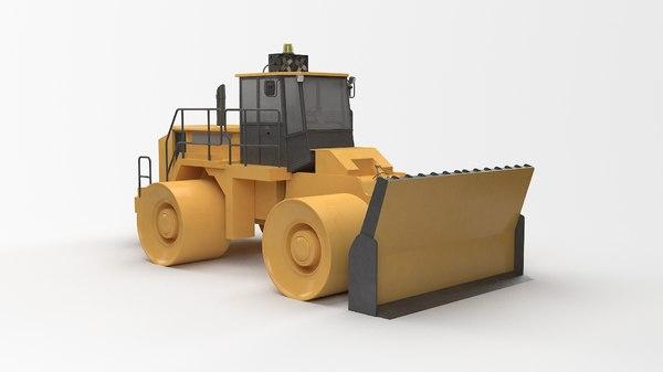 3D construction truck model