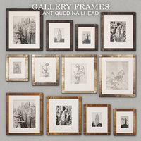 antiqued nailhead gallery frames 3D model