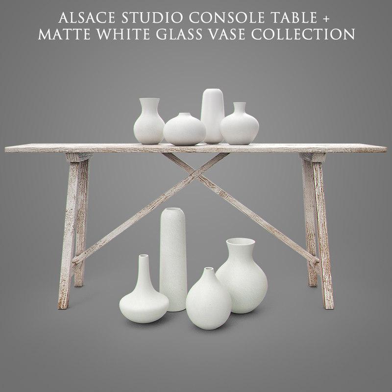 alsace studio console table 3D model