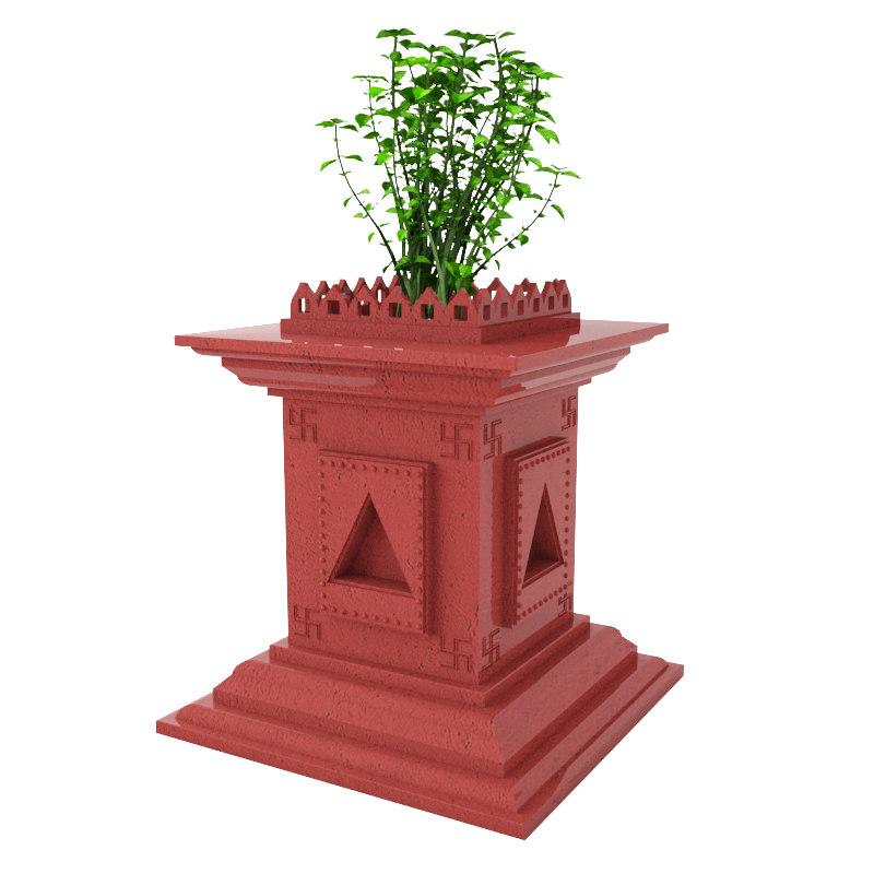 holy basil plant 3D model