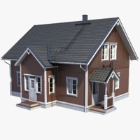 3D lightwave house wood