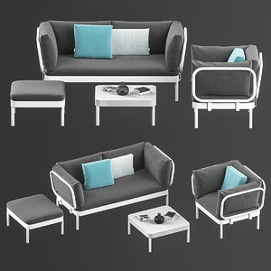 3D gandia tropez outdoor furniture model