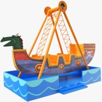 3D amusement park ship