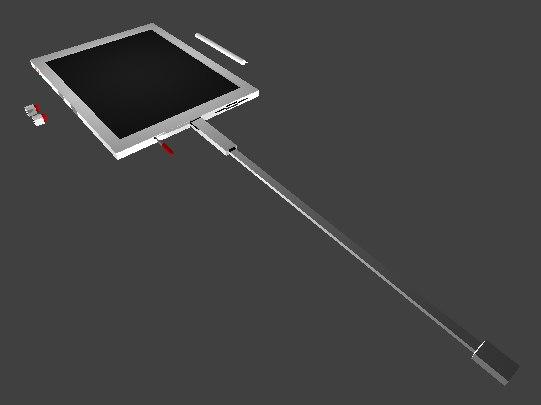 3D model tablet computer stylus