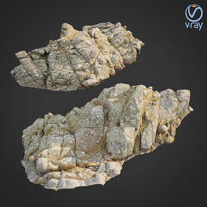 3D scanned rock cliff l2 model