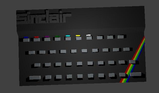 3D zx spectrum keyboard