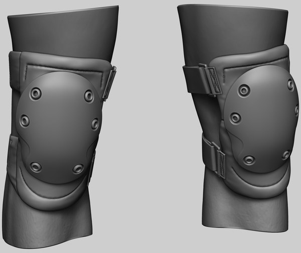 3D blackhawk knee pads model