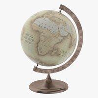 3D old desk globe