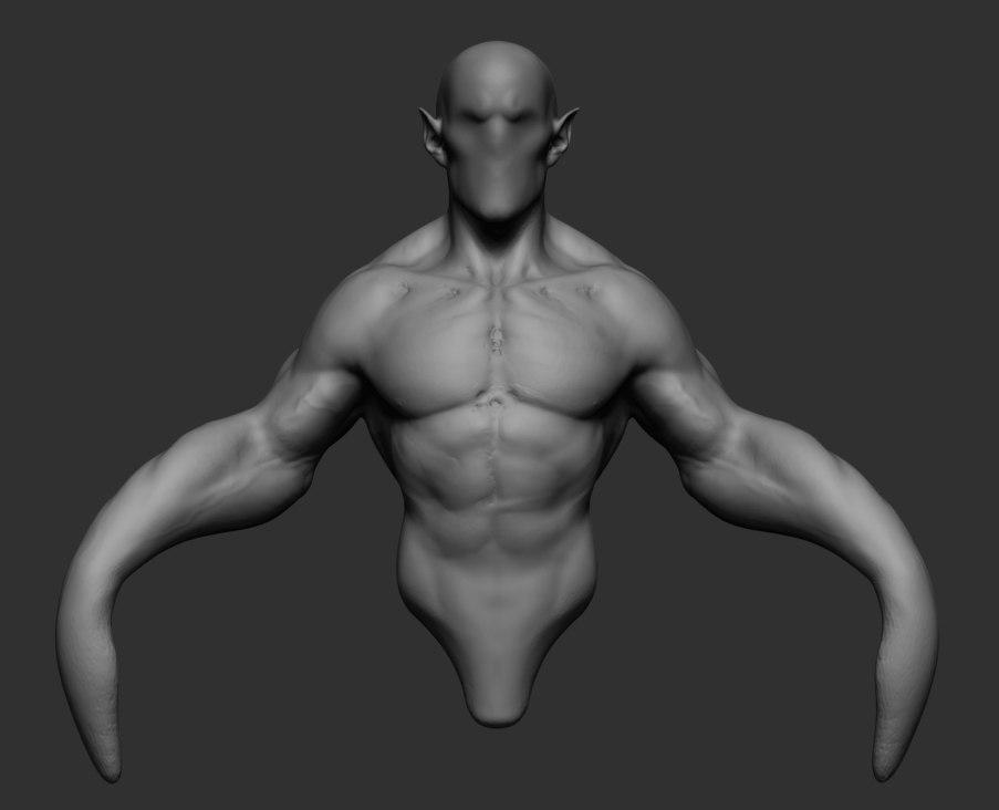 3D model stylized body