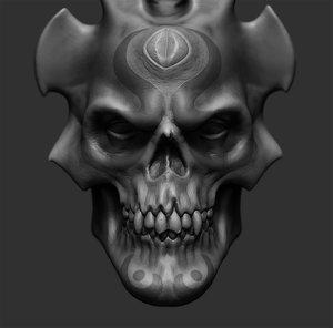 3D demon skull