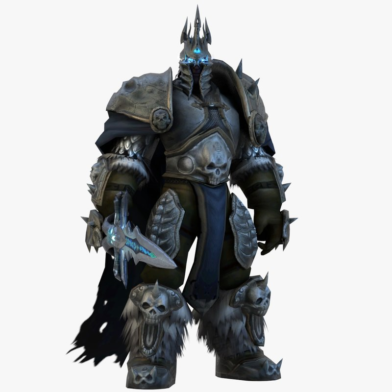 world warcraft lichking animations 3D model