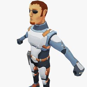 scifi security 3D model