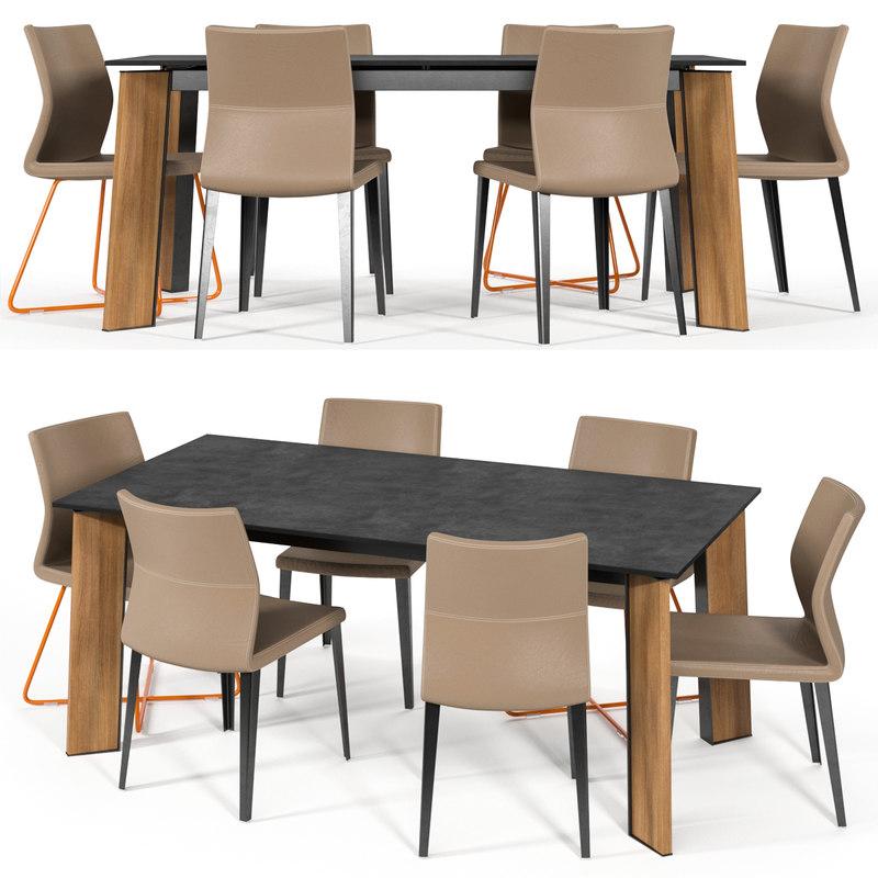 3D bonaldo razor chair model